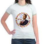 Barack Obama Drug Test Jr. Ringer T-Shirt