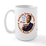 Barack Obama Drug Test Large Mug