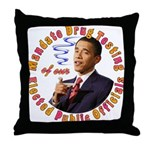 Barack Obama Drug Test Throw Pillow