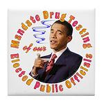Barack Obama Drug Test Tile Coaster