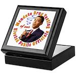 Barack Obama Drug Test Keepsake Box