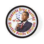 Barack Obama Drug Test Wall Clock