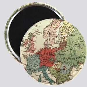 Vintage Linguistic Map of Europe (1907) Magnets
