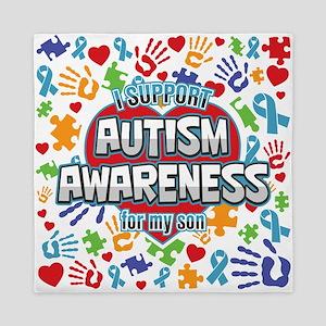 Support Autism Awareness Son Queen Duvet