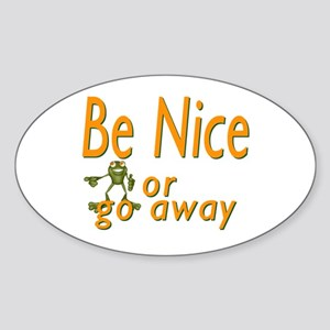 Be nice Oval Sticker