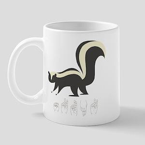 ASL Skunk Mug
