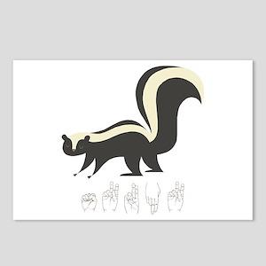 ASL Skunk Postcards (Package of 8)