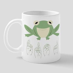 ASL Frog Mug