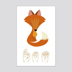 ASL Fox Mini Poster Print