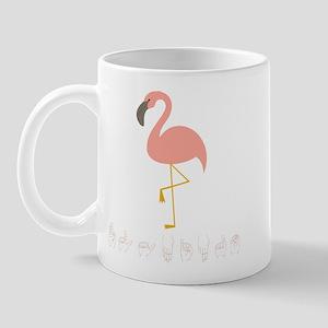 ASL Flamingo Mug