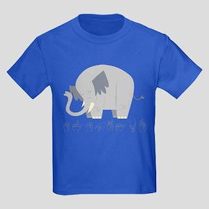 ASL Elephant Kids Dark T-Shirt