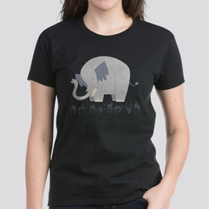 ASL Elephant Women's Dark T-Shirt