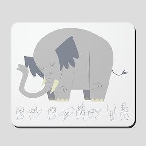 ASL Elephant Mousepad