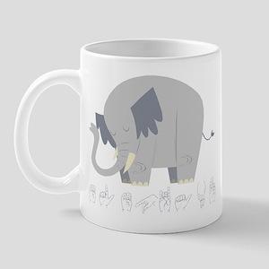 ASL Elephant Mug
