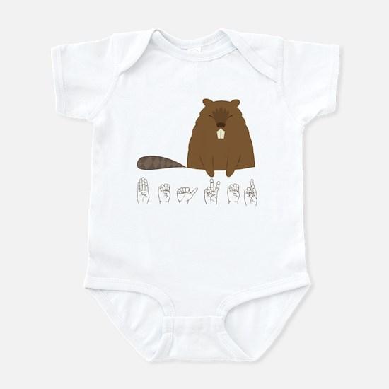 ASL Beaver Infant Bodysuit