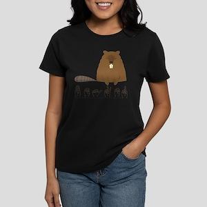 ASL Beaver Women's Dark T-Shirt