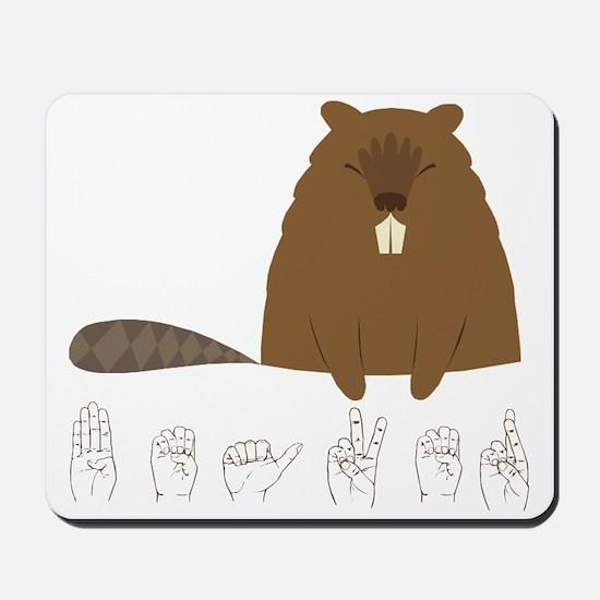 ASL Beaver Mousepad