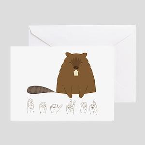 ASL Beaver Greeting Card