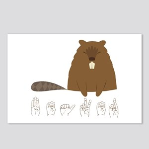ASL Beaver Postcards (Package of 8)