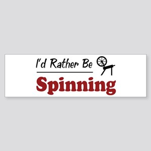 Rather Be Spinning Bumper Sticker