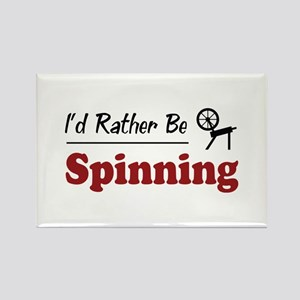 Rather Be Spinning Rectangle Magnet