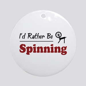 Rather Be Spinning Ornament (Round)