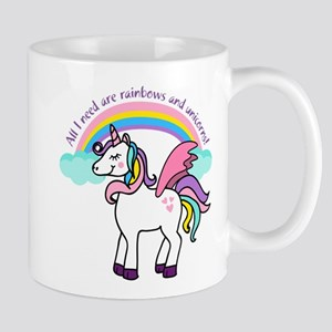 Rainbows and Unicorns Mugs