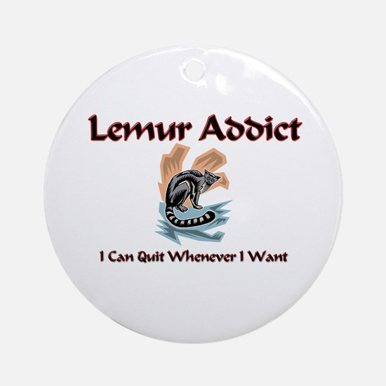 Lemur Addict Ornament (Round)