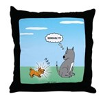 Yappy Dog Syndrome Throw Pillow