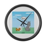 Yappy Dog Syndrome Large Wall Clock