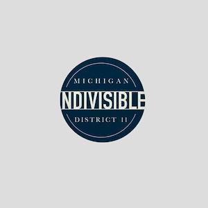 Indivisible MI District 11 Logo Mini Button