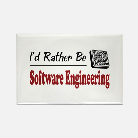 Rather Be Software Engineering Rectangle Magnet