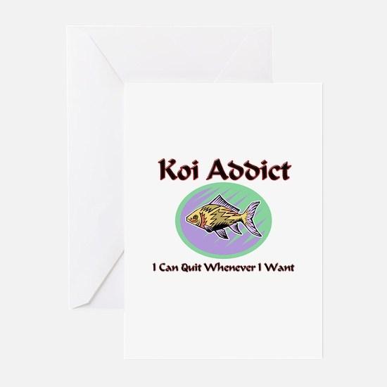 Koi Addict Greeting Cards (Pk of 10)
