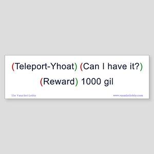 Teleport-Yhoat Bumper-size Sticker