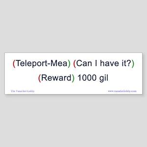 Teleport-Mea Bumper-size Sticker