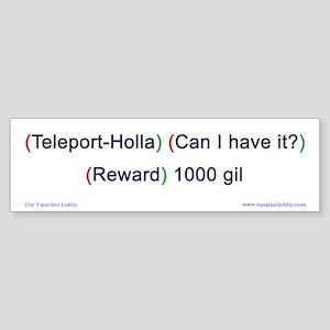 Teleport-Holla Bumper-size Sticker