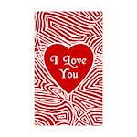 I Love You Heart Rectangle Sticker 10 pk)