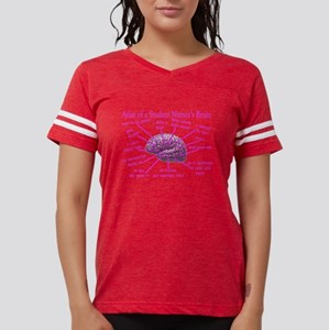 atlas student nurse brain PINK.PNG Women's Dark T-