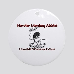 Howler Monkey Addict Ornament (Round)