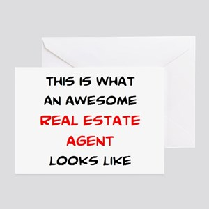 awesome real estate agent Greeting Cards
