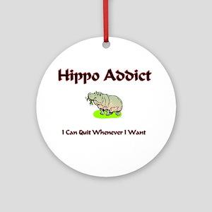 Hippo Addict Ornament (Round)