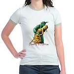Liberty & Justice Together Jr. Ringer T-Shirt