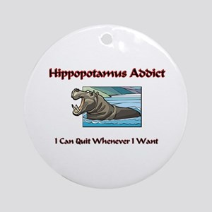 Hippopotamus Addict Ornament (Round)