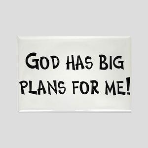 God's Plan for Me Rectangle Magnet