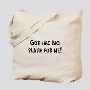 God's Plan for Me Tote Bag