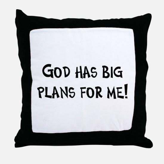 God's Plan for Me Throw Pillow