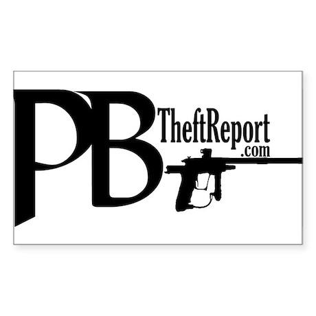 PB Theft Report Rectangle Sticker 50 pk)