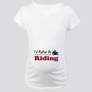 Rather Be Riding Maternity T-Shirt