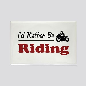 Rather Be Riding Rectangle Magnet