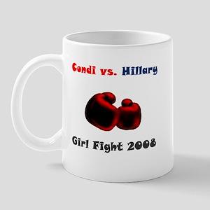 Condoleeza Rice vs. Hillary Clinton Mug